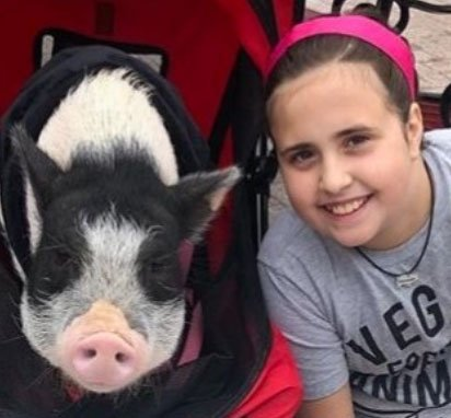 Image of Josephine with Franny the Pig