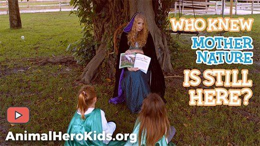 Image of Animal Hero Kids Founder Susan Hargreaves reading to kids