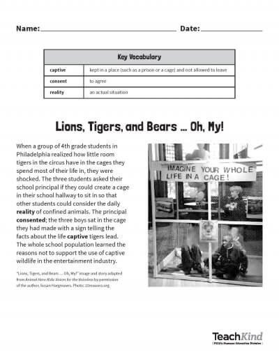 Image of pdf page lions tiger bears