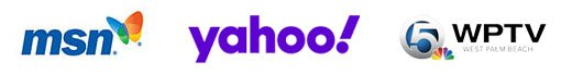 Image of logos for MSN, Yahoo and WPTV